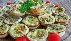 savory vegetable mini quiche