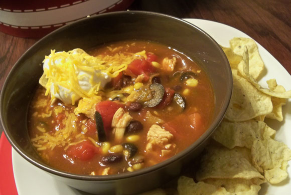 Southwestern Chicken and Black Bean Chili