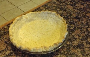 single baked pie crust made from scratch