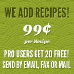 Dish Dish add recipes, organize recipes, digitize recipes, online cookbook