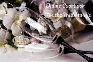 bridal cookbook, digital cookbook for bride, bridal gift, wedding gift,