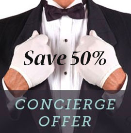 save 50 with concierge
