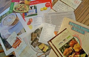 scattered recipes, organize family recipes, family cookbook, online cookbook