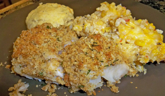bread crumb and herb crusted baked cod, seafood recipes, fish recipes ...