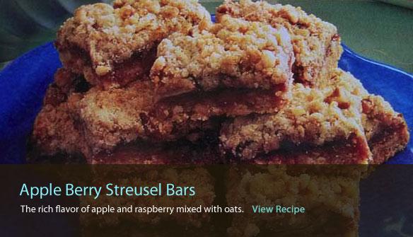 Apple Berry Streusel Bars