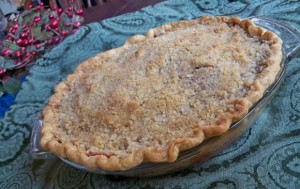 apple crumb pie, dessert recipe, holiday recipe