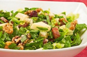 Chopped Salad with Apples, Walnuts and Blue Cheese