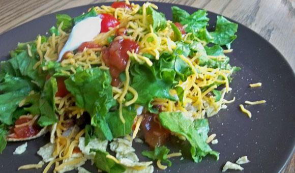 taco salad, cooking at home, healthy family recipes, easy main dish,