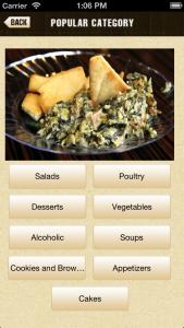 popular categories dashboard image, app release, dish dish online cookbook app,