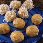 peanut butter, coconut, energy, kids snack, kids recipes, cooking with kids, no-bake,