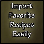 import recipes, recipe importer, import recipes tool, organize recipes, digitize recipes, dish dish