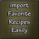 import recipes, recipe importer, import recipes tool, organize recipes, digitize recipes, dish dish