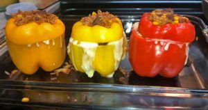 Stuffed Yellow and Red Peppers Recipe