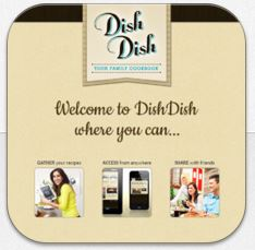 Dish Dish online cookbook recipe organizer app, organizing recipes online, recipe organizer, online cookbook app