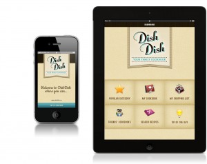 Dish Dish online cookbook app for ipad and iphone, recipe organizer app, organize recipes online
