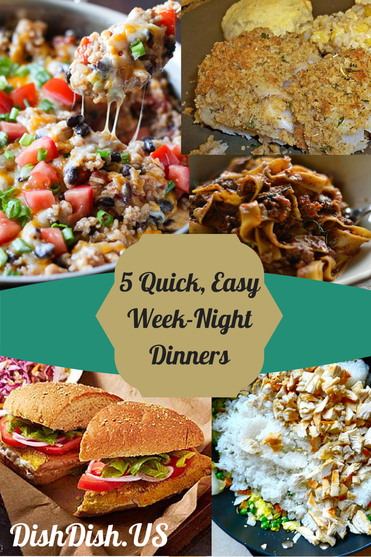 5 Quick Easy Week-Night Dinners, Easy Recipes, Quick Recipes, Dinner Recipes, Online Recipe Organizer