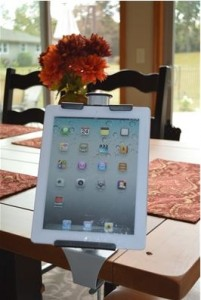 Upper Desk kitchen tablet holder mount, tablet mount, holder for tablet in kitchen, product review and giveaway, online cookbook, recipe organizer
