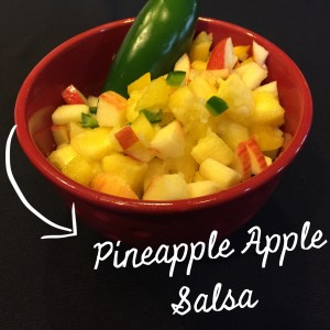 pineapple apple salsa, caribbean recipes, tropical dinner, vegetarian recipes, healthy recipes, recipe organizer app