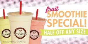scooters coffee half off fruit smoothies