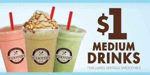 scooters medium drinks for $1