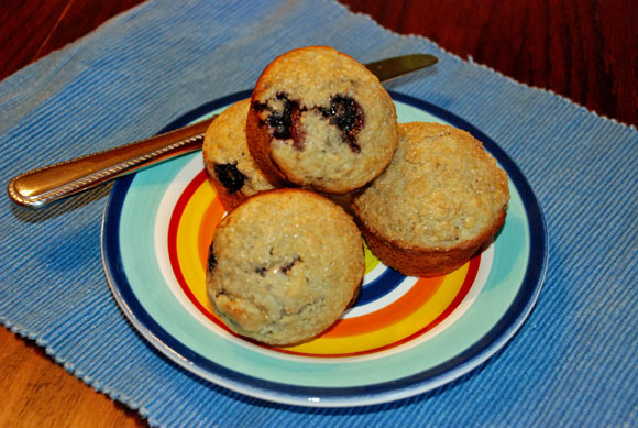 banana blueberry muffins, quick bread recipe, blueberry bread recipe
