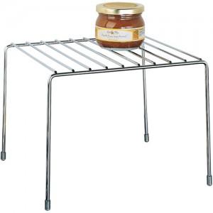 jar of jam on chrome pantry shelf