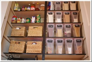 organized pantry, pantry containers