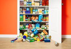 unorganized pantry, organize a pantry,