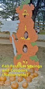 kids at pumpkin patch, fall festival, coupon, discount, deal, corn maze