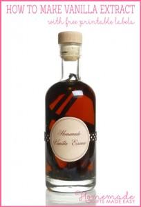 vanilla extract recipe, printable label, DIY christmas gift idea,