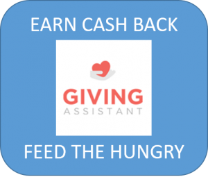 giving assistant, poverty, feed the hungry, cash back