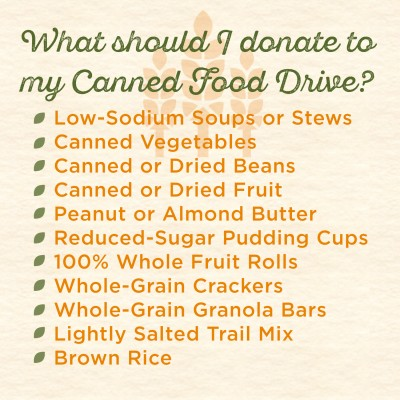 food bank, end hunger, canned food drive