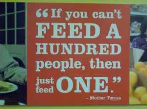 feed the hungry, end hunger, feed just one