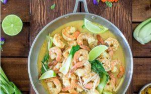 Shrimp Recipes - Cooked Shrimp in Skillet