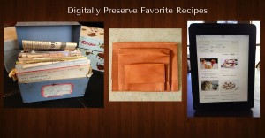digital recipe album, digitize recipes, online recipe organizer