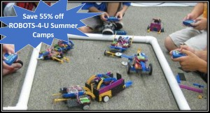 discount off robots-4-u summer camp, robotics camp, dallas