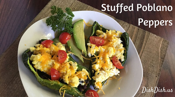 Stuffed Poblano Peppers by Dish Dish