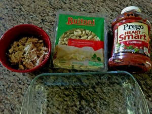 Ingredients for Cheesy Tortellini and Chicken Bake Recipe