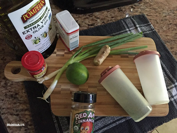 ingredients for Moroccan chicken recipe for easy dinner