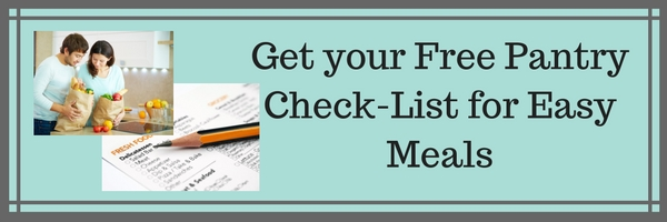 Free Pantry Check-List for Cooking Easy Recipes