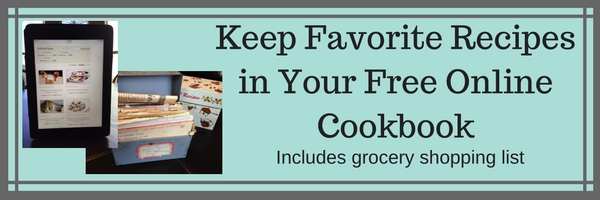 Keep Favorite Recipes in Free Online Cookbook with Grocery List