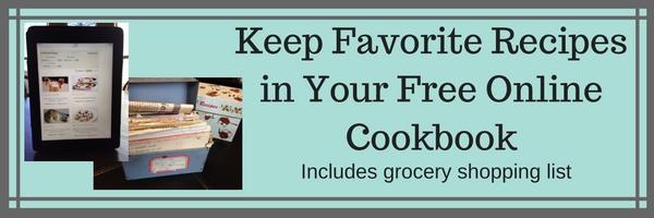 online recipe box, digital recipe book, online cookbook