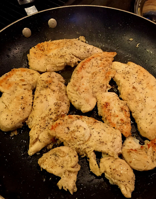 Jalapeno popper chicken recipe - browning chicken