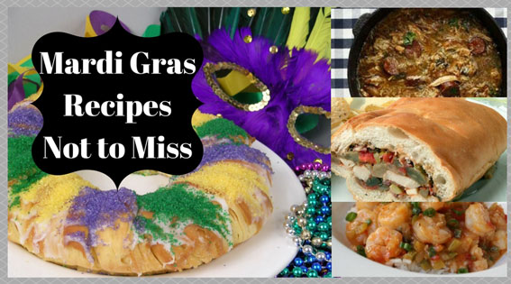 mardi gras recipes and mask, king cake