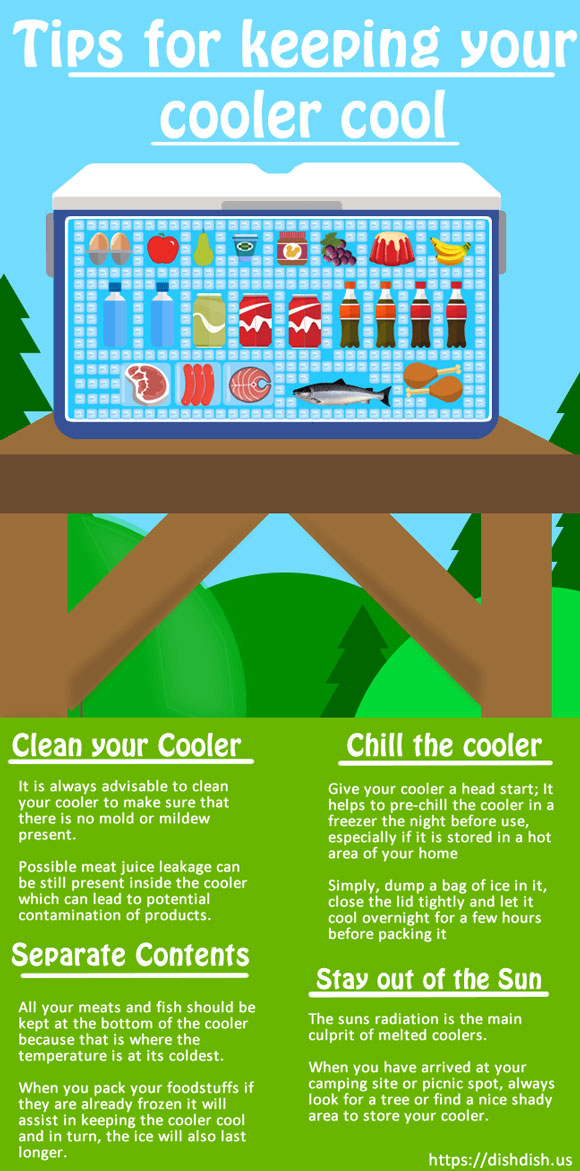 How to Keep a Cooler Cool Infographic