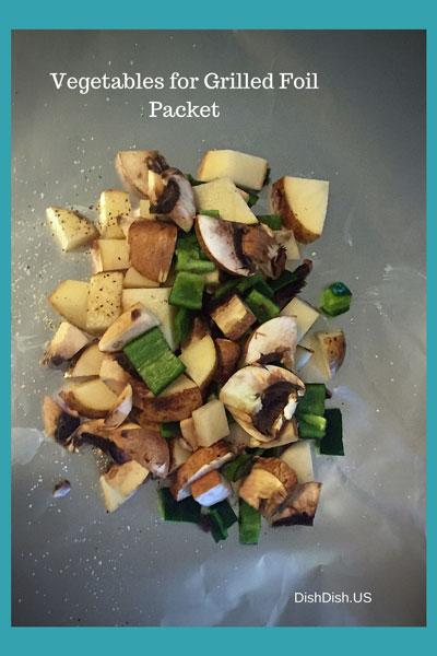 Vegetables for Grilled Foil Packet Dinner