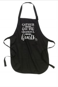 Kitchen Apron - Gather with Grateful Hearts design