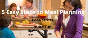 5 Easy Steps to Meal Planning Downloadable Guide