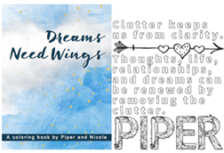 Dreams Need Wings coloring book | Summer Days Giveaway Dish Dish