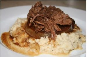 Crock Pot Roast with Sweet Onions by Paleo Table